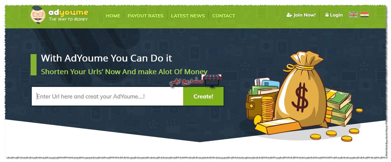 طريقة الربح من موقع adyou.me