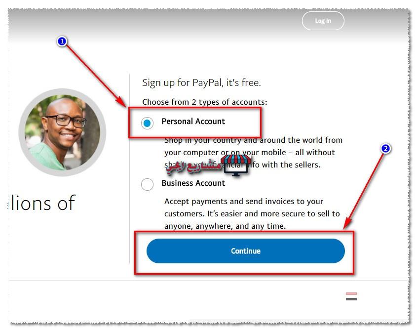 طريقة انشاء حساب paypal