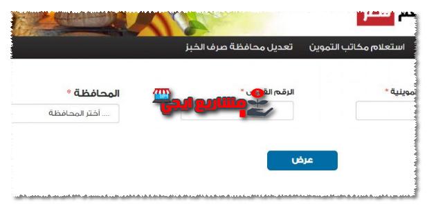 موقع دعم مصر لتحديث البطاقات التموينية
